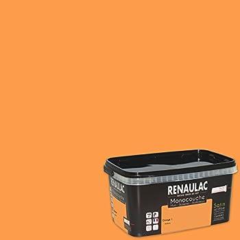 Renaulac Peinture Monocouche Multisupports Orange Satin 25l 25m²