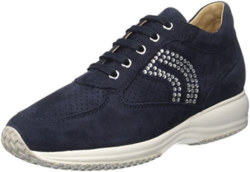 Geox D Happy C, Sneakers Hautes Femme Bleu (Dk Navyc4021)
