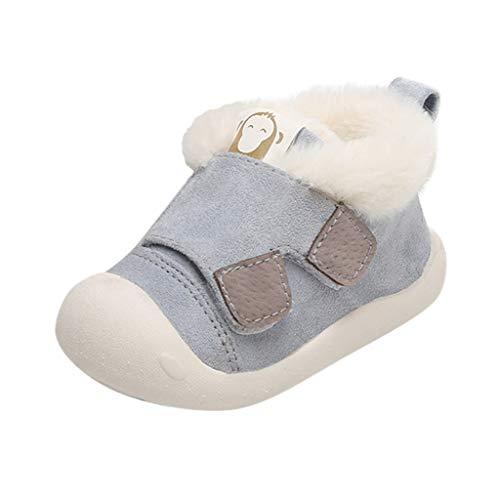 Alwayswin Winter Plus Samt Warme Babyschuhe Kleinkind Jungen Mädchen Winter Lauflernschuhe Plüsch Erste Schuhe Mode Kleine Kinder Booties Bequeme rutschfest Baumwolle Schuhe -