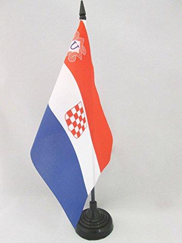 AZ FLAG TISCHFLAGGE UNABHÄNGIGER Staat Kroatien 1941-1945 21x14cm - USK TISCHFAHNE 14 x 21 cm - flaggen