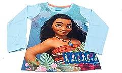 Idea Regalo - PICCOLI MONELLI Maglia vaiana Bambina Oceania Maglietta Manica Lunga Cotone Primaverile Taglia 5 Anni 110 cm