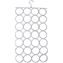 Schal- und Tuchbügel Schals Gürteln Tuch Krawatten Bügel Aufbewahrung Kleiderbügel Organizer - Très Chic Mailanda (28, weiß)
