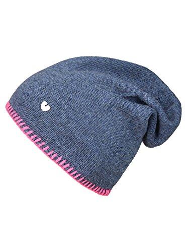 Slouch-Beanie-Mütze mit Kaschmir - Hochwertige Strickmütze für Damen Mädchen -...
