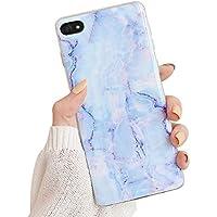 Oihxse Compatible para iPhone XR Funda de Mármol Cristal Patrón Suave Silicona TPU Flexible Gel Protectora Carcasa Ultra Fina Anti Choque Protección Cubierta Caja (Azul)