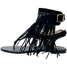 Oferta de Liquidación! Calzado Chancletas Tacones Chanclas Chicas Zapatos de Flores de Verano de Las Mujeres Sandalias de Playa Sandalias Planas de Bohemia �� Manadlian