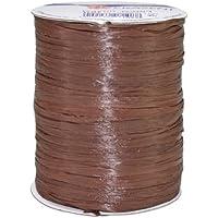 Präsent - Bobina de cordón (rayón, 100 m), color marrón