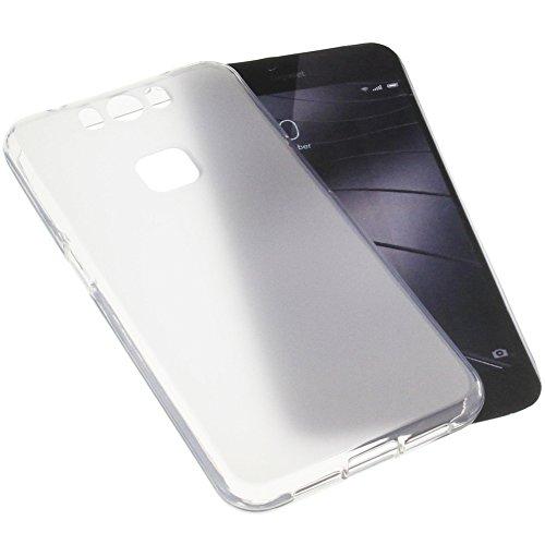 foto-kontor Tasche für Gigaset Me Pro Gummi TPU Schutz Handytasche transparent weiß