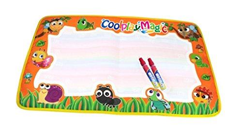 Aqua-garten (Rangebow Aqua Magic Garden Kreaturen Gekritzel Mat Wasser Wiederverwendbare Zeichnung Board und Doodle Magic Pen für 2 Jahre Plus Spielzeug (Garten Kreaturen))