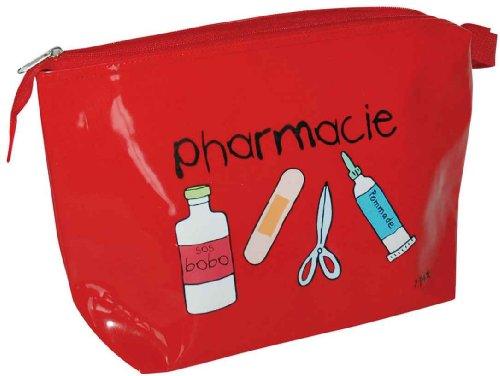 incidence-60339-trousse-a-medicaments-pharmacie-rouge-vinyle-fermeture-zip-poignee-de-transport