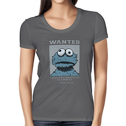 TEXLAB - Wanted Thief and Smuggler of Cookies - Damen T-Shirt Grau