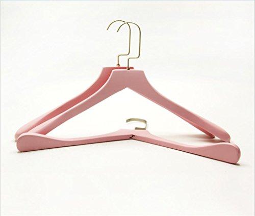 GFYWZ legno massello Rosa gancio Anti skid asciugatura durevole rack Appendini Abbigliamento negozio di vestito del cappotto (pacchetto di 3)