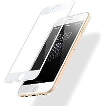 iPhone 7 Plus/ 8 Plus Templado Protector de Pantalla, POSUGEAR 3D Blanco Pantalla Completa Cristal Templado Pantalla protectora [9H Dureza] [Anti Blu Ray] [3D Touch Compatibles] - Blanco