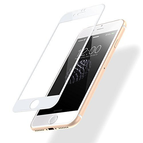 POSUGEAR Pellicola Protettiva iPhone 7/8, 3D Full Curva Copertura Completa 9H Durezza Scratch Resistente HD Tempered Vetro Pellicole protettive per Apple iPhone 7/8 - Bianca