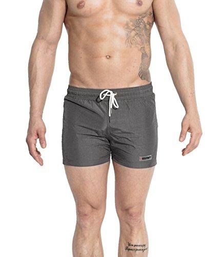 Okany Herren Männer Badehose in vielen Farben | Badeshort | Bermuda Shorts | Beachshort | Slim Fit | Schwimmhose | Badehosen | schnelltrocknend | Jungen