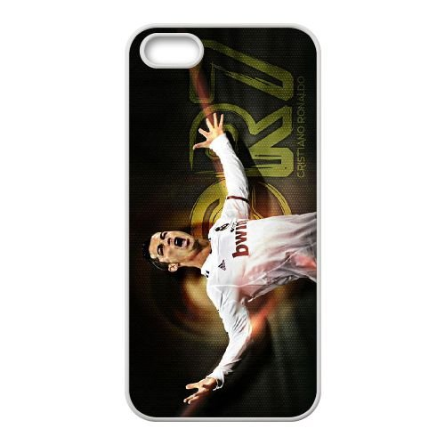 Cristiano Ronaldo coque iPhone 5 5S Housse Blanc téléphone portable couverture de cas coque EBDXJKNBO16380