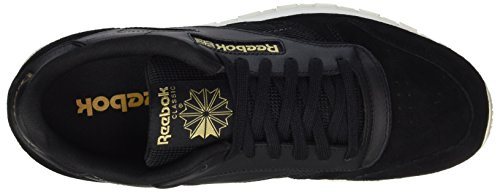 Reebok Herren Classic Leather Alr Sneaker Schwarz (Black/Chalk/Ash Grey/Rbk Brass)