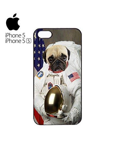 Funny Dog Pitbull Spaceman Astronaut Pug Life Mobile Phone Case Cover iPhone 6 Plus + Black Blanc
