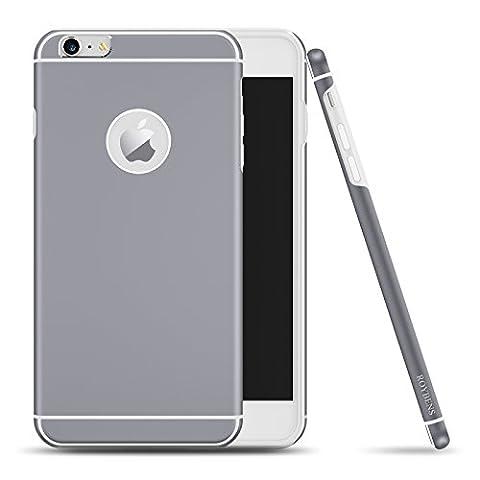 Coque iPhone 6s Plus, Roybens® Métal et Silicone 2 Couches Ultra Fine Housse Anti Choc étui Pour Apple iPhone 6 / 6s Plus , 5.5 Pouces, Noir