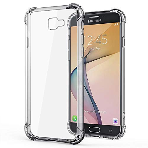 Jkobi Silicon Flexible with Protective Shockproof Corner Transparent Back Case Cover for Samsung Galaxy J7 Prime