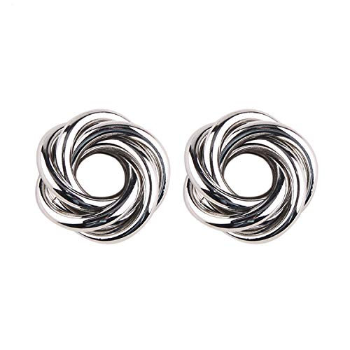 Daawqee Orecchini, Metal Gold Silver Stud Earring For Women Hot Sale Vintage Trendy Punk Statement Luxury Party Gift Earrings Silver Color5