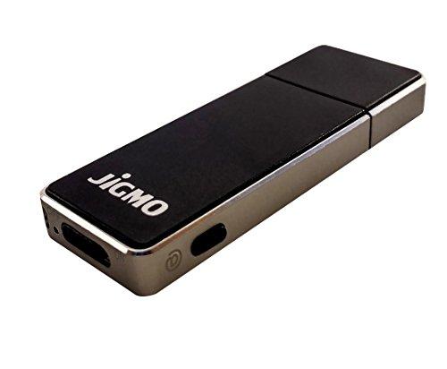 Grabadora de Voz Alta Calidad – Con Indicador De La Batería – Voz Activada - por JiGMO [Gunmetal], Datos de 8 GB / 36 horas de audio, 512 kbps / Audio Recorder con Grabaciones Claras / con 2 Acolladores y ebook / Para Estudiantes, Profesionales, Músicos,