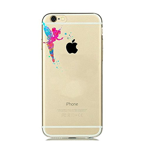 Disney Tinkerbell Schutzhülle Appel Iphone Serie TPU transparent Silikon Case Appel Iphone Cartoon Hülle -AcAccessoires (Iphone 5/5S/5SE, #0035) #0035