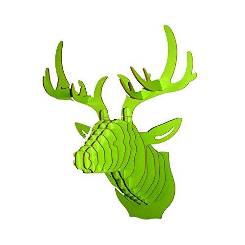 Le comptoir canadien Tête de cerf Vert en Bois - Vert