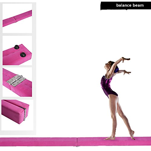 Anaelle Pandamoto Poutre de Gymnastique en mousse 2.1m (Rose)