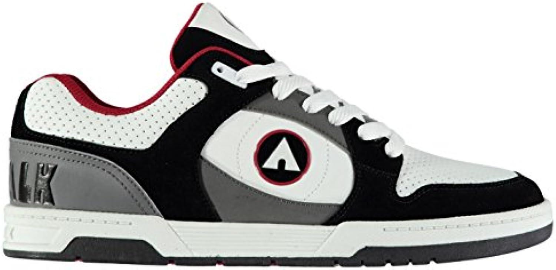 Original Schuhe Airwalk Gaszug Skate Schuhe Schwarz/weissszlig/rd Herren Skateboarding Sportschuhe Sneakers