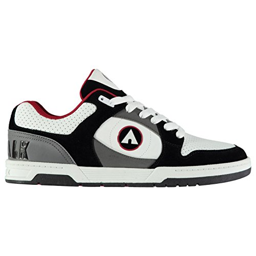 Original Schuhe Airwalk Gaszug Skate Schuhe Schwarz/Weiß/rd Herren Skateboarding-Sportschuhe Sneakers, schwarz/weiß / rot, (UK10) (EU44) (US11) - Skate Weiß Schuhe Schwarz