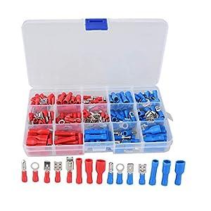 Oeeek 200 Teile / Los Elektrische Kabel Terminal Anschlüsse Sortiment Kit Werkzeug Elektrische Gabel Ring Terminal Kit