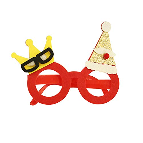 Party Diy Decorations - Christmas Frame Glasses Ornaments Adult Kids Sunglass Eyeglass Costume Eye Xmas Gifts Party - Party Decorations