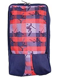 BagsRUs Surfboard Print Navy Blue Polyester Protective Shoe Travel Bag (SH106FNB)