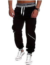 BOMOVO - Chándal para hombre, Pantalones De Chandal multicolor (Azul/Negro/Blanco/Gris)