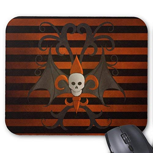 Halloween Skull with Wings Happy Halloween Mouse Pad Rectangle Non-Slip Rubber Personalized Mousepad Gaming Mouse Pads (Corgi Happy Halloween)