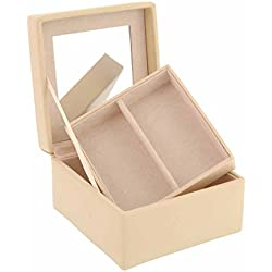 Small square jewelry box with 1 tray