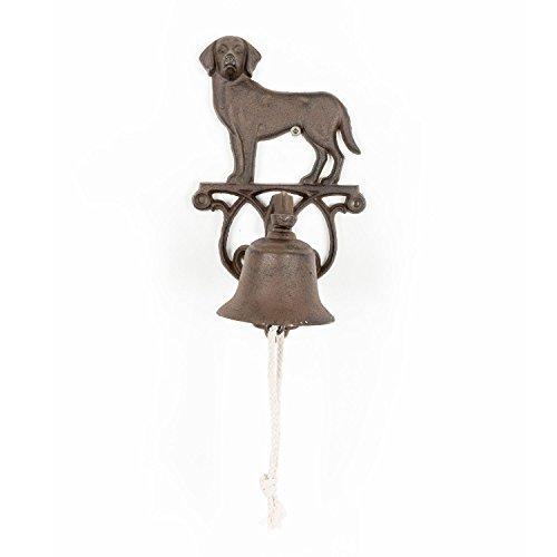 Homescapes Türglocke Hund aus Gußeisen, 14.3 x 13.2 x 24.9cm