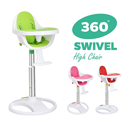 Costway 360 Adjustable Swivel Baby Chair High 5 Point Safety Harness EVA foam Seat 417V9ET81zL