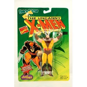 Wolverine Figure - 1991 - Original Green Card Very Rare Edition - Bend-Ems - Uncanny X-Men Series - Marvel - Limited Edition - Mint -