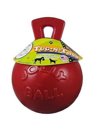 Jolly Pets JOLL046A Hundespielzeug - Tug-n-Toss, 20 cm, rot
