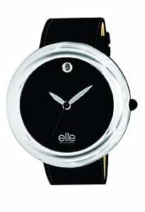 Elite - E5263.2.203 - Montre Femme - Quartz Analogique - Bracelet Plastique Noir