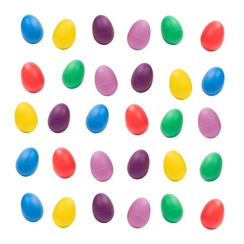 40 Set di sonagli a forma di uovo - 6 colori assortiti. Ideale per Pasqua, regalini da festa ecc. Un divertente giocattolo per neonati e bambini