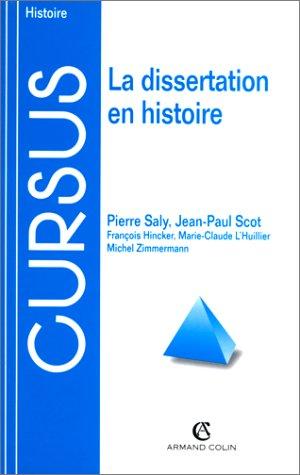 LA DISSERTATION EN HISTOIRE par Collectif