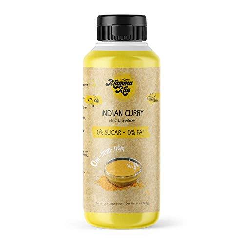 Indian Curry Sauce ohne Kalorien | Sauße ohne Geschmacksverstärker, ohne Zucker & fettfrei | ZERO Currysauce von Mamma Mia – 265ml