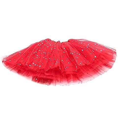 HuaYang Hübsches kleines Sternchen Ballettröckchen Bühnenproduktionen Tanz Rock Luftblasen-Rock für Mädchen Kinder (Hübscher Tanz Kostüme Für Mädchen)
