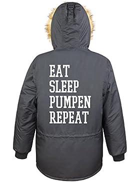 Eat Sleep Pumpen Repeat Parka Girls Nero Certified Freak