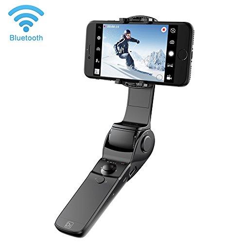 Hohem Faltbare Selfie Stick Power Bank Handheld Gimbal Stabilisator für iPhone X 8 7 Plus / 6 S Plus / 6 Plus Android Smartphones (Schwarz) …