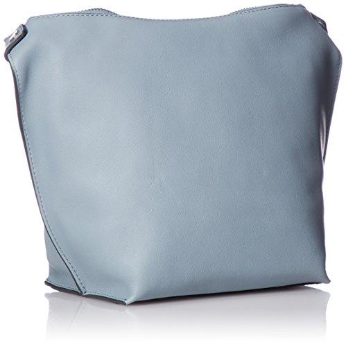 Ecco Borsa A Spalla Con Tracolla Scolpita Da Donna, 10x22x29 Cm Blu (blu)