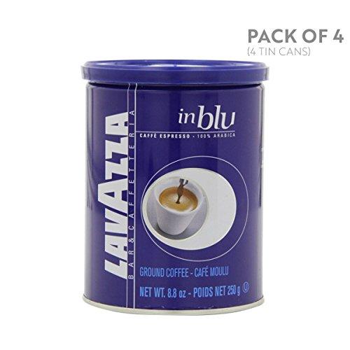 Preisvergleich Produktbild Lavazza in Blu - Espresso Ground Coffee,  8.8-Ounce Tins (Pack of 4) by Lavazza