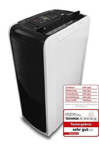 Comedes LTR 100 NEO - Geräuscharmer Luftentfeuchter, bis zu 12l /Tag, Raumgröße bis 50m²/115m³, mit Luftreiniger-Funktion